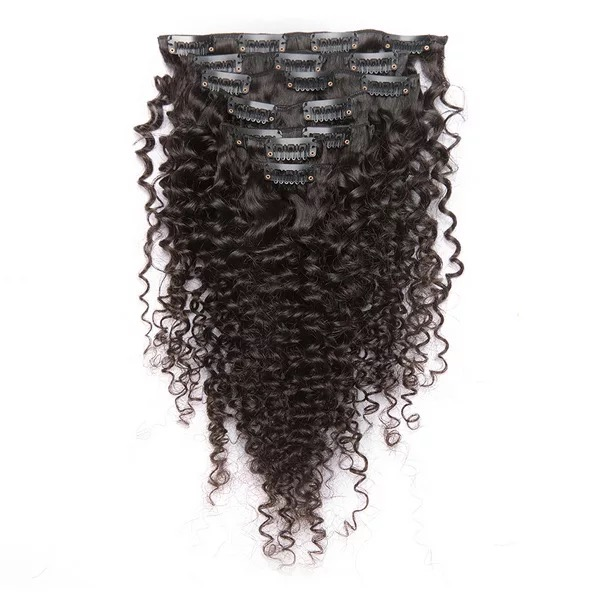 7 Pieces Curly Virgin Remy Hair Clip In Hair Extension Rebornhairs Inc