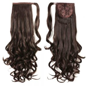 Brown-Wavy-synthetic-wrap-around-ponytail