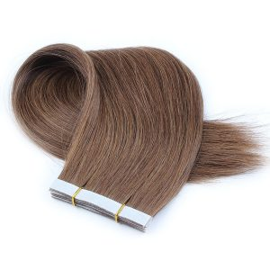 Chocolate-brown-straight-virgin-remy-hair-tape-in-hair-extension