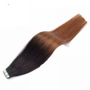 Ombre-color-straight-virgin-remy-hair-tape-in-hair-extension