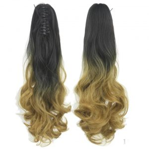 Ombre-wavy-sythetic-claw-clip-in-ponytail-hair-extansion