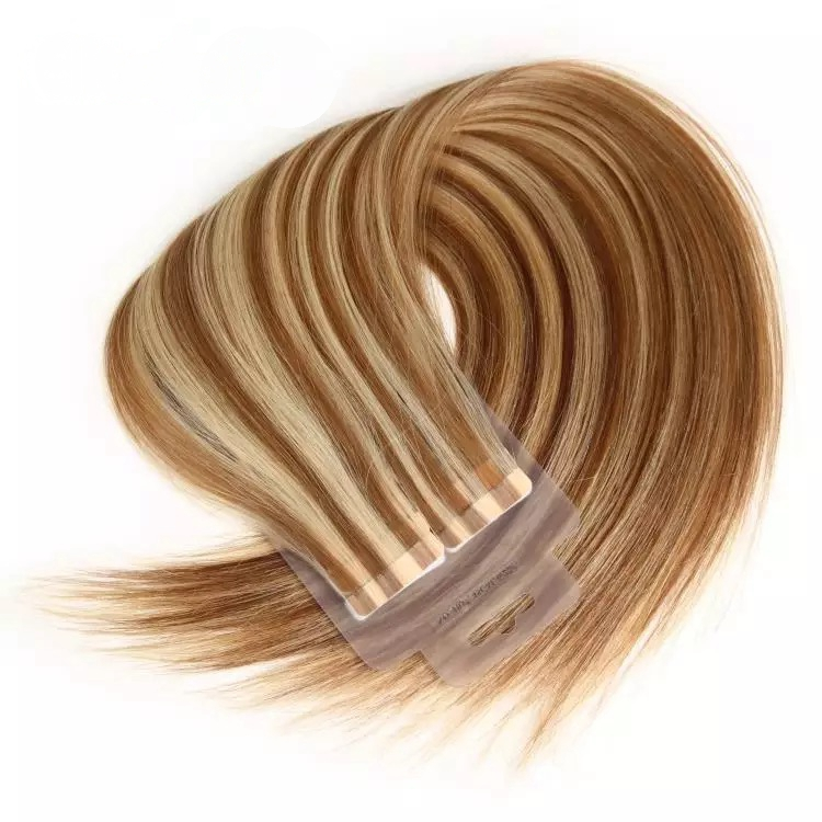 Piano Color Straight Virgin Remy Hair Tape In Hair Extension