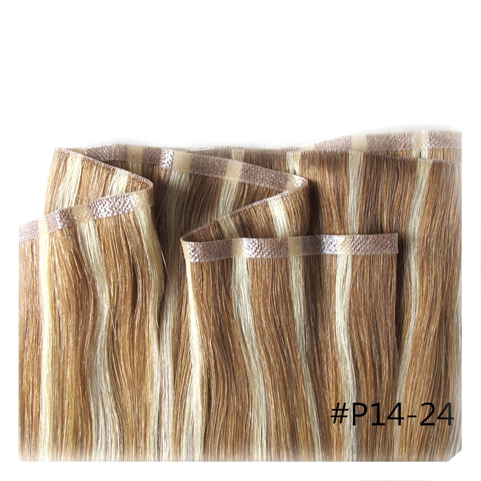 Straight Virgin Remy Hair Hand Tied Skin Weft Hair Extension