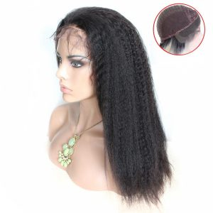 virgin-remy-hair-Kinky-straight-lace-front-wig